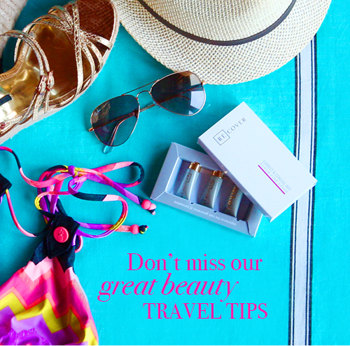 Travel beauty tips with ReCover