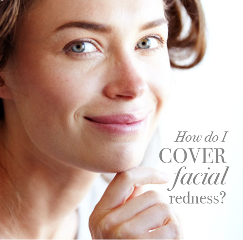 How do I cover facial redness?