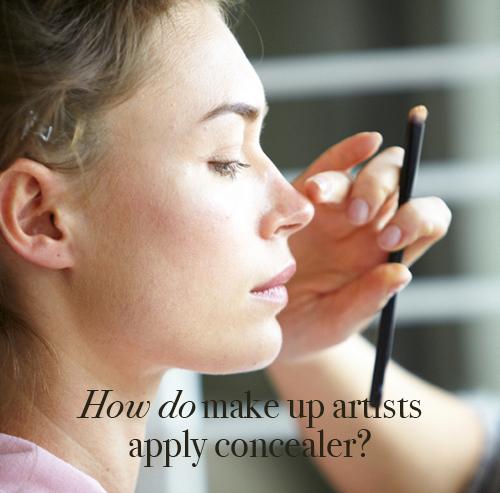 How do make up artists apply concealer?